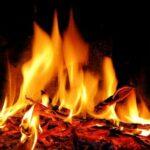 No Trace Bushcraft campfire